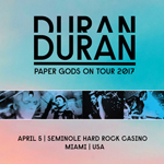 Duran Duran - Paper Gods On Tour - Miami (cover)
