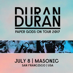 Duran Duran - Paper Gods On Tour - San Francisco (cover)