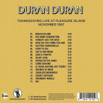 Duran Duran - Thanksgiving Live At Pleasure Island (back cover)