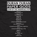 Duran Duran - US Dates Bandshot T-shirt (back cover)