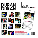 Duran Duran - Calendar 2018 (back cover)