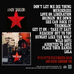 Andy Taylor - 100 Club London UK (back cover)