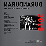 Duran Duran - The Fillmore Miami Beach (back cover)