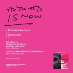 "Duran Duran - All You Need Is Now 7"" (back cover)"