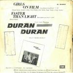 """Duran Duran - Las Chicas En La Película 7"""" (back cover)"""
