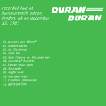 Duran Duran - Hammersmith 1981 (back cover)