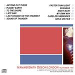 Duran Duran - Live At Odeon (back cover)
