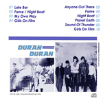 Duran Duran - Paradiso Club (back cover)