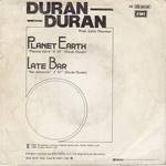 """Duran Duran - Planeta Tierra 7"""" (back cover)"""