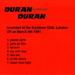 Duran Duran - Sundown 81 (back cover)