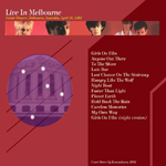 Duran Duran - Live In Melbourne (back cover)