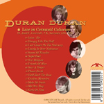 Duran Duran - Live In Cornwall (back cover)