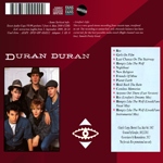 Duran Duran - Live In Detroit 1982 (Remastered) (back cover)