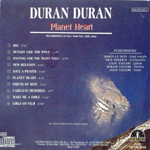 Duran Duran - Planet Heart (back cover)