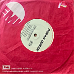 """Duran Duran - Hungry Like The Wolf 7"""" (back cover)"""