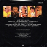 Kajagoogoo - Too Shy (back cover)