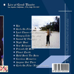 Duran Duran - Live In Greek Theatre (back cover)