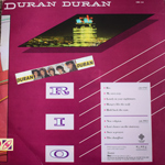 Duran Duran - Rio LP (back cover)