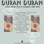 Duran Duran - Brighton Centre (2nd Show) (back cover)