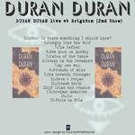 Duran Duran - Brighton Centre (2nd Show) (back cover)