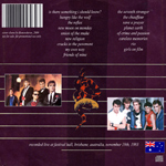 Duran Duran - Festival Hall Brisbane (back cover)