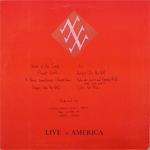 Duran Duran - Live In America LP (back cover)
