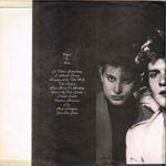 Duran Duran - Cheek To Chic LP (back cover)