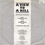 DJs Factory - A View To A Kill (back cover)