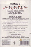 Duran Duran - The Making Of Arena (back cover)