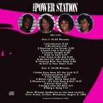Power Station - Live In St. Paul 1985 (back cover)