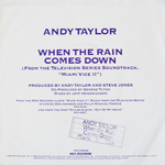 "Andy Taylor - When The Rain Comes Down 7"" (back cover)"