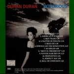 Duran Duran - Notorious (back cover)