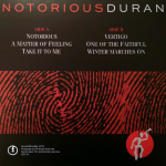 Duran Duran - Notorious Demos LP (back cover)