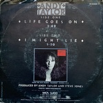 "Andy Taylor - Life Goes On 7"" (back cover)"