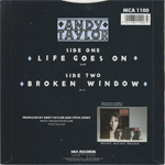 """Andy Taylor - Life Goes On 7"""" (back cover)"""