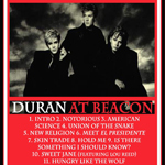 Duran Duran - Live At Beacon (back cover)