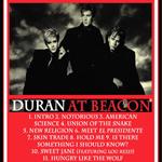 Duran Duran - Live At Beacon (back cover)