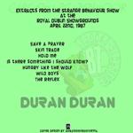 Duran Duran - Eirean Behaviour (back cover)