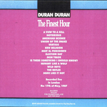 Duran Duran - Finest Hour (back cover)