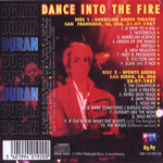 Duran Duran - Dance Into The Fire (back cover)