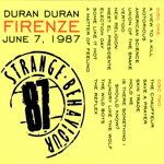 Duran Duran - Strange Behaviou Firenze (back cover)