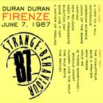 Duran Duran - Strange Behaviou Firenze (back cover)