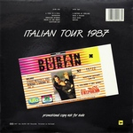 Duran Duran - Live (Italian Tour 1987) LP (back cover)