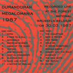 Duran Duran - Megalomania 1987 (back cover)