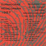 Duran Duran - Megalomania 1987 (back cover)