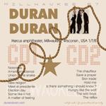 Duran Duran - Milwaukee 1987 (back cover)