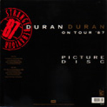 "Duran Duran - Strange Behaviour 12"" (back cover)"