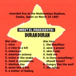 Duran Duran - Meet El Presidente (back cover)