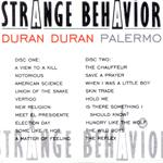 Duran Duran - Strange Behaviour Palermo (back cover)