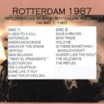 Duran Duran - Rotterdam 1987 (back cover)